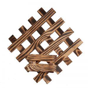 Quadro xadrez madeira